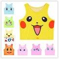 Mujeres de Moda de verano Tanques Pikachu Squirtle Pokemon Bulbasaur Impresión de la Historieta de La Camiseta Del Chaleco Niñas Lindo Tops Crop Top Bustier