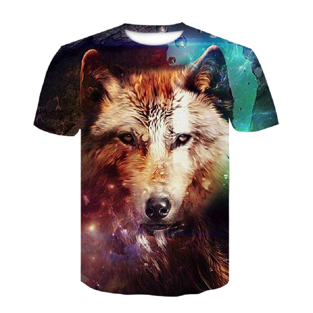 2018 High Quality  Animal Printed 3D T shirt Harajuku Punk 3D Short Sleeve Tshirt M-4XL Style T-shirts Men