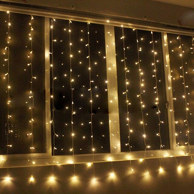 Tanbaby 3 M x 3 M 300 LED luces de la Cortina Impermeable Al Aire Libre Del Jardín Del Banquete de Boda decoración luz de navidad cadena 8 modos