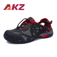AKZ Unisex Spring Summer Loafers Air Mesh casual shoes For Men Breathable Comfortable Climbing shoes Outdoor hiking shoes
