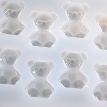 1set=8pcs Lovely Bears Shape Mirr Silicone mould Handmade bracelet manual Ring PU epoxy UV doming resin adhesive jewelry DIY(China)