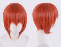 Chise Hatori The Ancient Magus' Bride Wig Red Orange Short Anime Cosplay Facial Hair Orange Hair