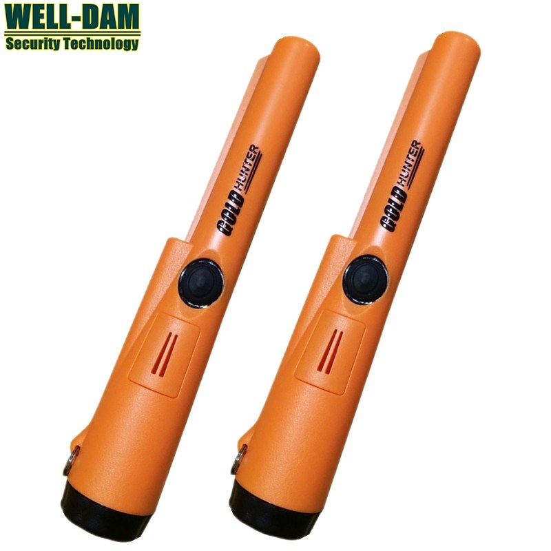 Waterproof gold metal detector pin pointer NEW orange color gold hunter at pro pointer gold metal detector free shipping 2pcs waterproof gold detector gold hunter at propointer orange color
