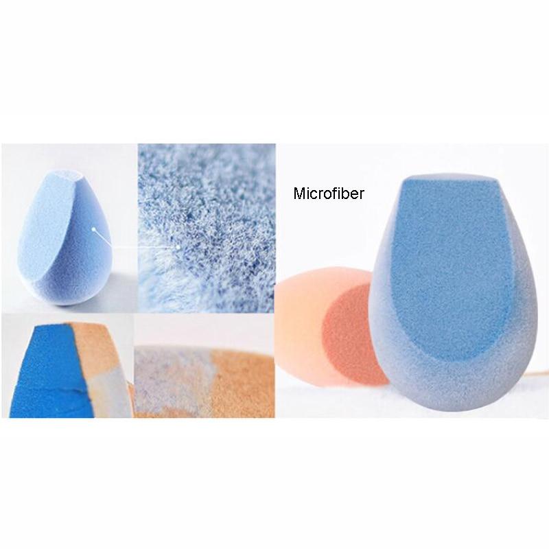 Beauty Essentials Pink Microfiber Fluff Surface Sponge Makeup Blender Powder Puff For Concealer Liquid Foundation With Brushegg Face Makeup Tool