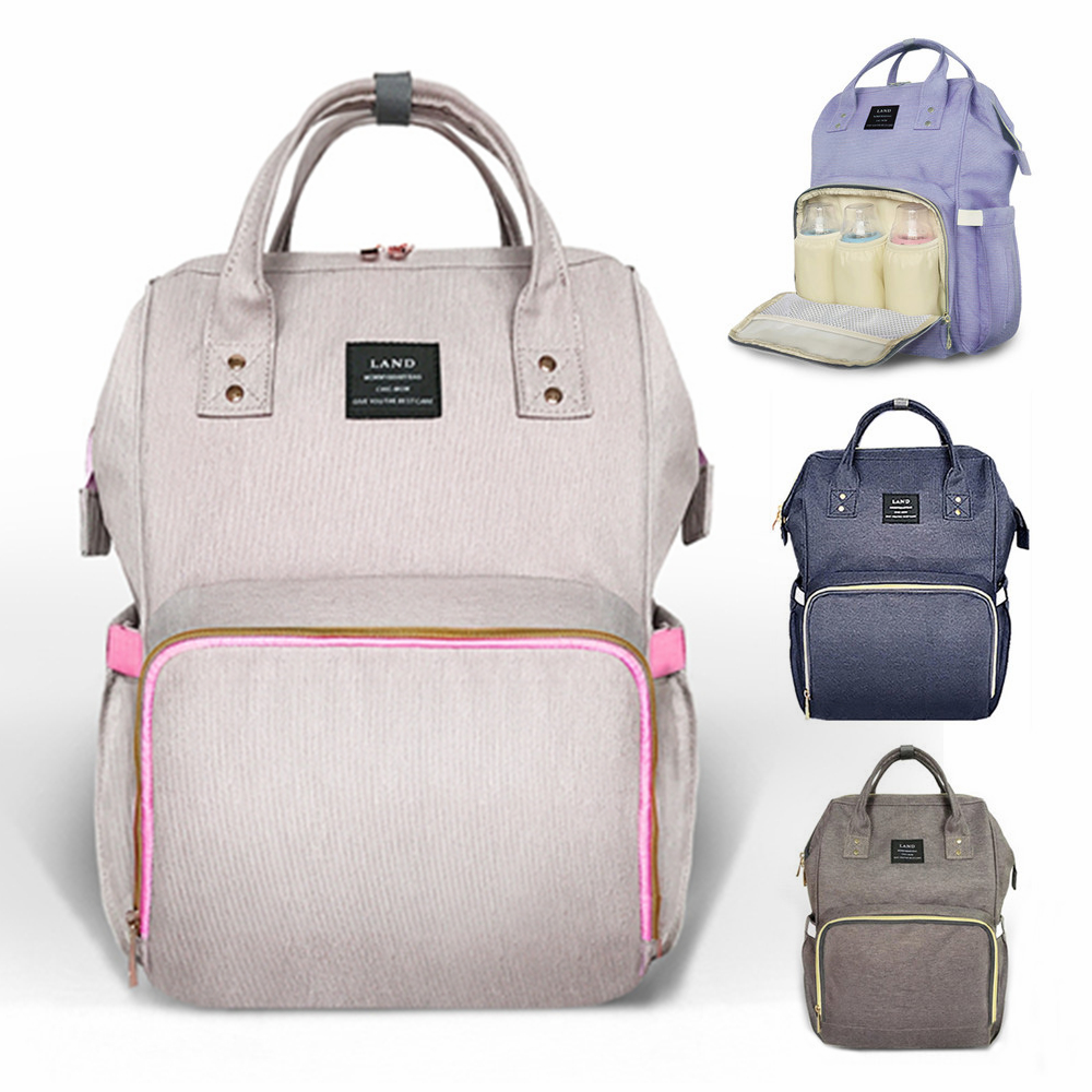 ebc4889acc LAND Nappy Bags Big Capacity Baby Diaper Bag Waterproof Baby Care Nappy Changing  Bag Fashion Mother