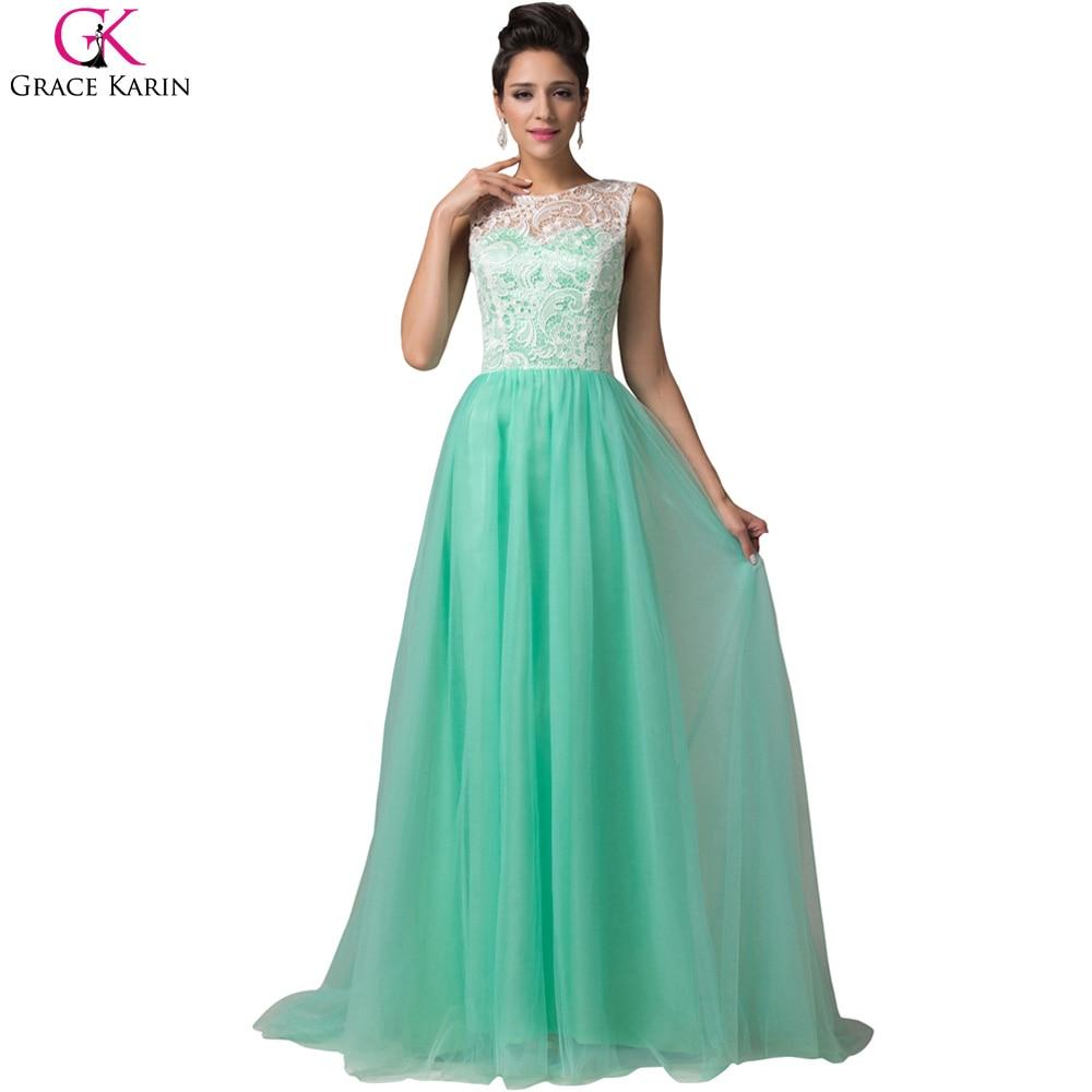 Aliexpress Buy Elegant Evening Dresses 2017 Robe De Soiree Grace Karin Sleeveless Lace