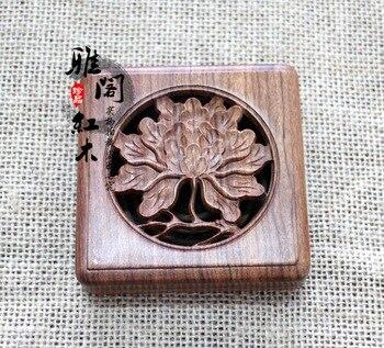 Factory direct mahogany wood box incense coil incense incense box wooden box wholesale vaporizer