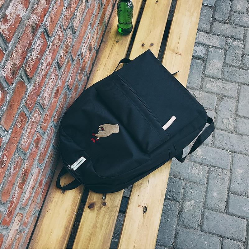 46214e6298 HTB1rBzVbaSWBuNjSsrbq6y0mVXax Menghuo Men Heart Canvas Backpack Women  School Bag Backpack Rose Embroidery Backpacks for Teenagers Women s