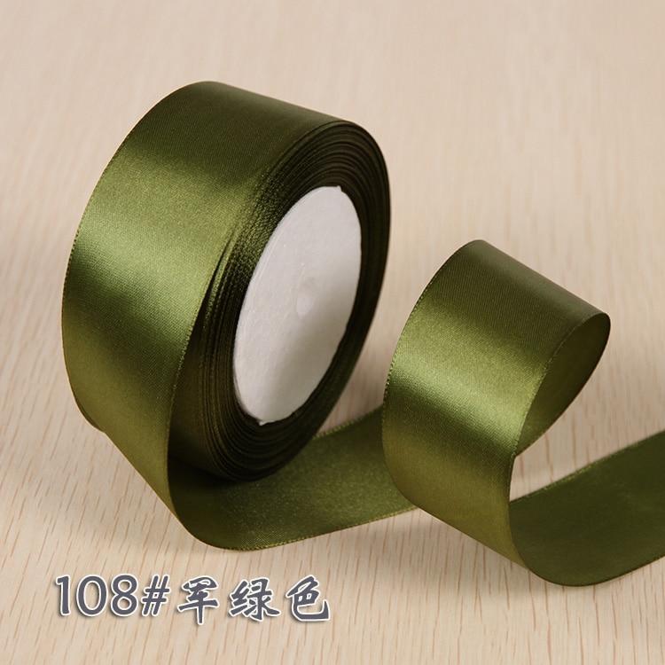 6 мм 1 см 1,5 см 2 см 2,5 см 4 5 см атласными лентами DIY искусственный шелк розы Ремесла поставок швейной фурнитуры Скрапбукинг материал - Цвет: Army Green