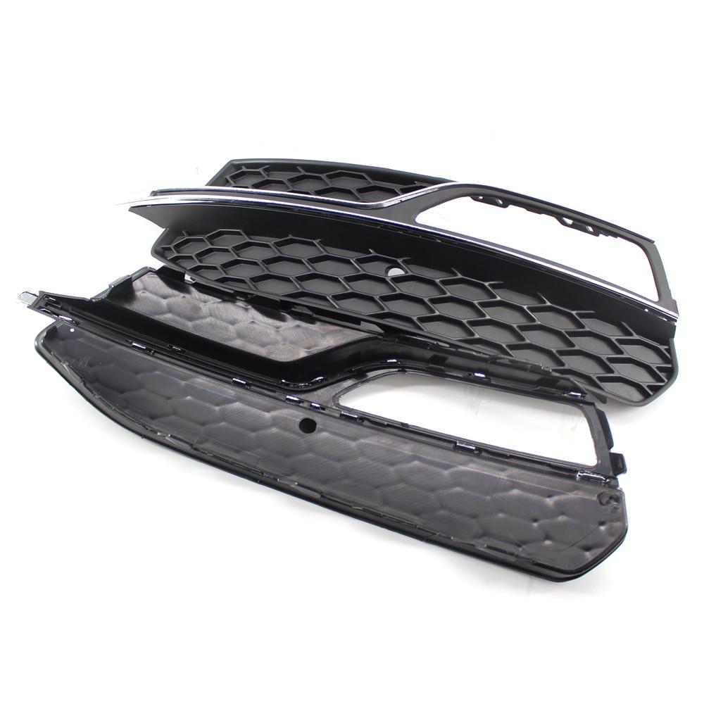 Black Honeycomb Mesh Front Bumper Grille for Audi S3 2013-2017 or for Audi A3 S-Line 2014-2016 Car Styling s line sline front grille emblem badge chromed plastic abs front grille mount for audi a1 a3 a4 a4l a5 a6l s3 s6 q5 q7 label