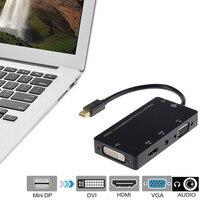 Mini Displayport DP To HDMI VGA DVI Audio Thunderbolt Compatible 1080P Adapter Cable For Apple Macbook