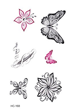 Rocooart HC1113 Waterproof Temporary Tattoo Stickers Courage Fear Heart Mind Letters Design Water Transfer Harajuku Fake Tattoo 50