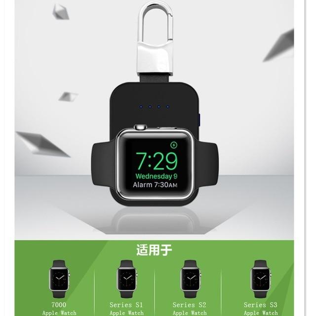 QI Drahtlose Ladegerät für Apple Uhr band 4 42mm/38mm iWatch 3 4 Tragbare Schlüsselbund Externe batterie pack power bank
