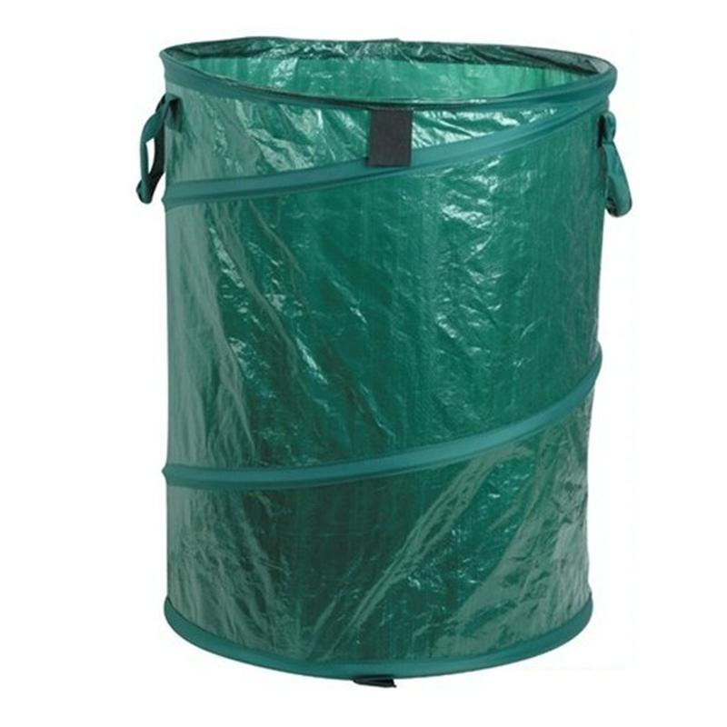 45x48cm portable folding pe plastic pop up trash can storage bin garbage can buckle barrel dark. Black Bedroom Furniture Sets. Home Design Ideas