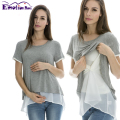 Emotion Moms Summer Short sleeve Maternity T-shirt Nursing Tops Maternity clothes for pregnant women Breastfeeding Tops Tees
