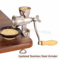 Updated Stainless Steel Flour Mill Coffee Bean Grinding Miller Manual Corn Grinding Machine for Maize Flour with Hand Crank