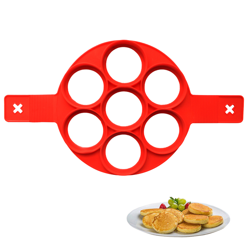 Frying Eggs Mold Silicone Non Stick Pancake Maker Creative Kitchen Cooking Tools Star Heart Shape Egg Ring