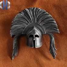 цены Ancient Roman General Gladiator Mask Helmet Original Handmade Custom 925 Sterling Silver Brass Necklace Pendant