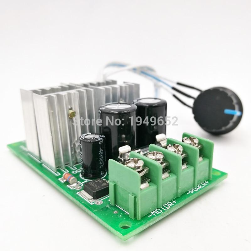 10-55V DC Motor Velocidad Controlador Reversible Control PWM Interruptor de avance//retroceso