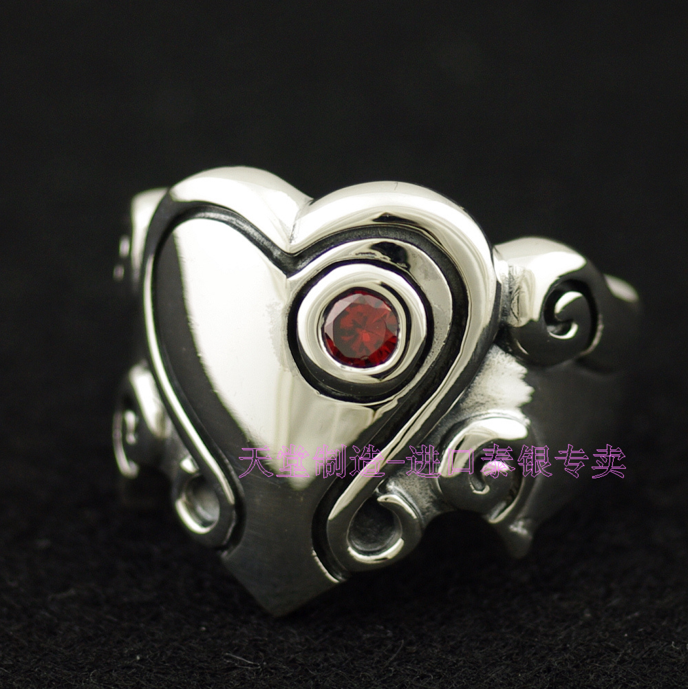Thailand imports 925 sterling silver ring, the angel of love the realm of clans anime ling yu qinlie 925 sterling silver ring comics cartoon