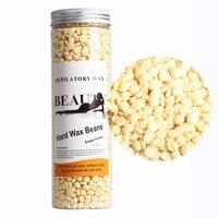 400G Jar Milk Flavor Wax Bean Hard Wax Beans Bikini Face Body Pilaten Hair Remover Epilation