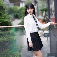 New Arrival High School Uniform Sets Shirt Skirt 2Pieces Sets JK Korean School Uniform OY G1020