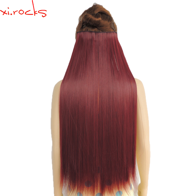 5piecelot Xicks Synthetic Clip In Hair Extensions 28inch Length