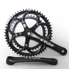 Road Bike Crankset 170MM 39-52T BCD130 Chainring Bike Parts 14/16/18 Speed Folding Bicycle Chainwheel Sprocket Crank Set 170mm shimano fc m4050 t4060 alivio 3x9s speed mtb bicycle crankset 170mm include bb52