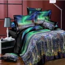 Лучшие. WENSD Ультра-мягкие и удобные постельные принадлежности двойной 3D единорог Комплект постельного белья простыня набор пододеяльник наволочка california king