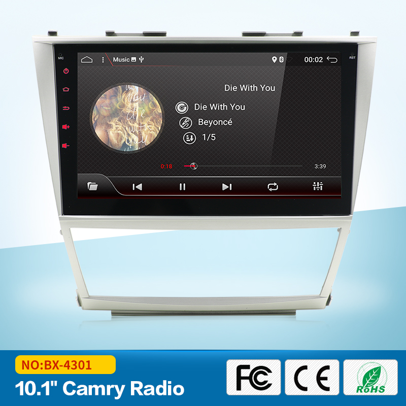 Newest Hot 1024*600 2Din Android 7.1 2GB RAM Car DVD For TOYOTA CAMRY 2007-2011 auto radio with 4G google play 10.1inch