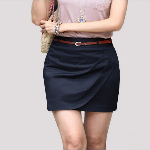 8270f47f4 € 16.04 10% de DESCUENTO 2019 Primavera Verano mujeres falda delgada cadera  carrera corta falda moda Casual lápiz falda Ol faldas formales mujeres ...