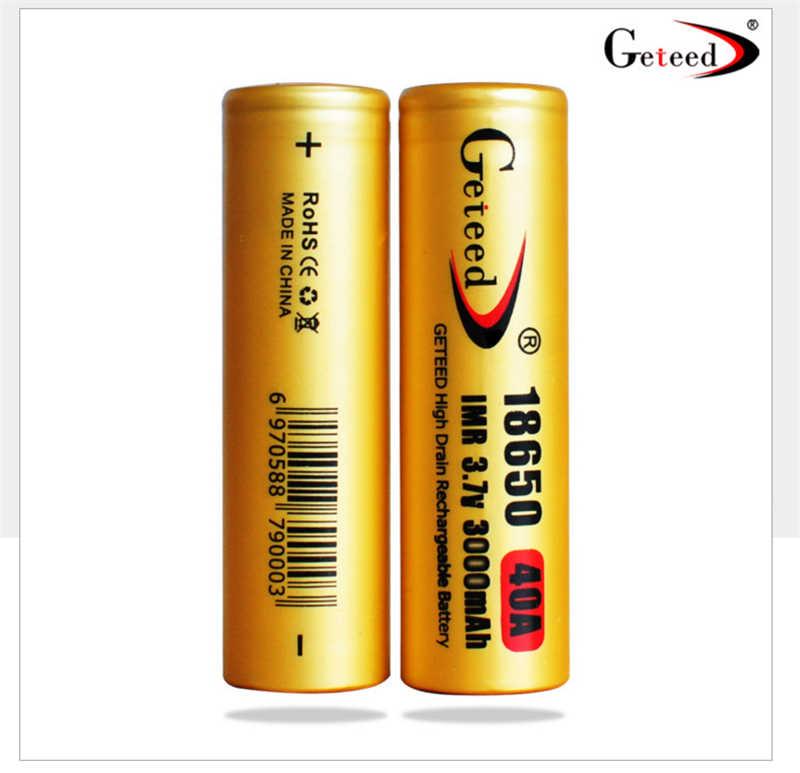 GETEED IMR 18650 40A 3000 mAh Năng Động Lithium ion Li-ion 3.7 v 3.6 V Có Thể Sạc Lại Pin có thu phí di động cho Điện cung cấp