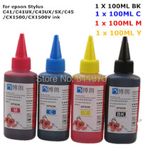 Universal High quality 4 Color Premium Dye Ink 400ML For EPSON Stylus C41/C41UX/C43UX/SX/C45/CX1500/CX1500V printer ink