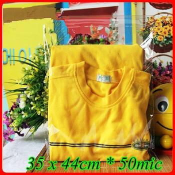 100pcs/lot 35 x 44cm*50mic Self Adhensive Seal Plastic Packaging Bag,Clear OPP Poly Bag,Transparent OPP T- shirt Packaging