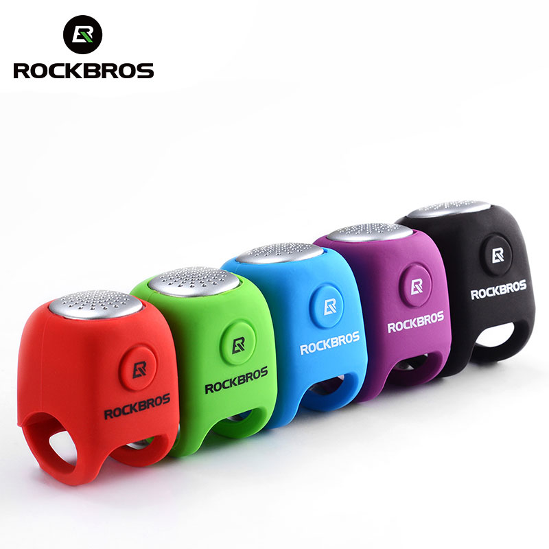 ROCKBROS 90 db Electric Bike Bicycle Horn Alarm Bells Safety MTB Cycling Handlebar Bell Silica Gel Ring Bicycle Accessories
