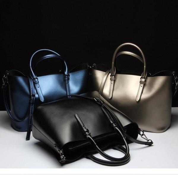 ФОТО Handbags Women Messenger Bags Genuine Leather Women Bags Retro Handbags Famous Brand Fashion Casual Ladies Shoulder Bag M16
