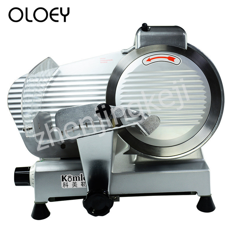 Semi-automatic Slicer 10 Inches Food Slicer Full Metal Body 250mm Blade Adjustable Slice Thickness Restaurant Equipment Mutton