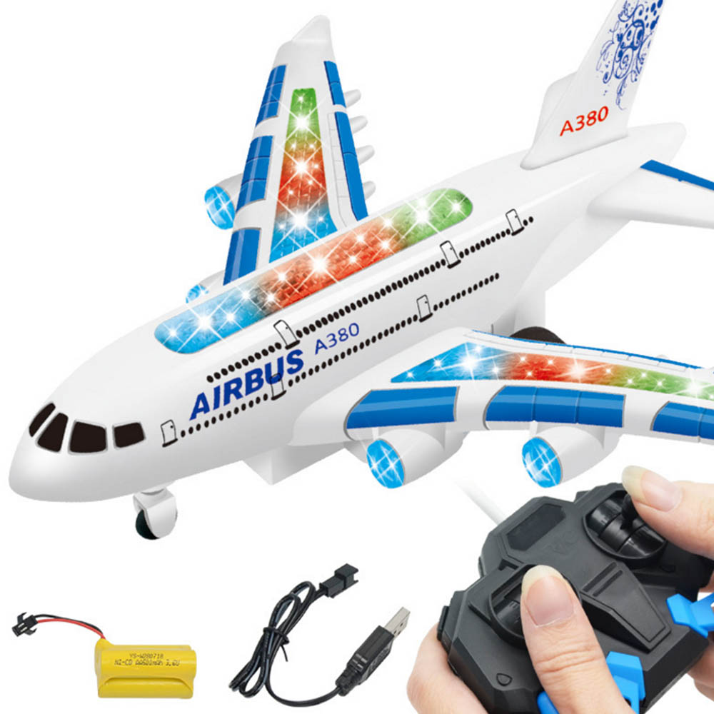 Image 2 - Kids Airplane Toys Airbus Electric Remote Control Model Plane with Lights Sounds  Model Kids for Children Gifts-in RC Airplanes from Toys & Hobbies