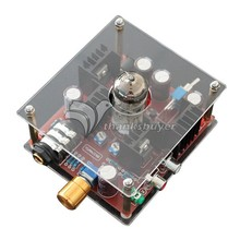 InStock 6N11 Hi-Fi Class A Hybrid Tube Stereo Headphone Amplifier Amp + Power Supply DC24V