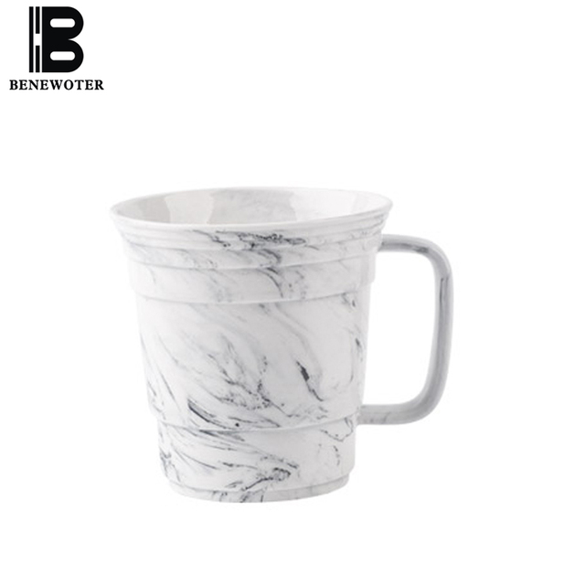 400ML European Bone China Handle Coffee Mug Outline Gold Large ...