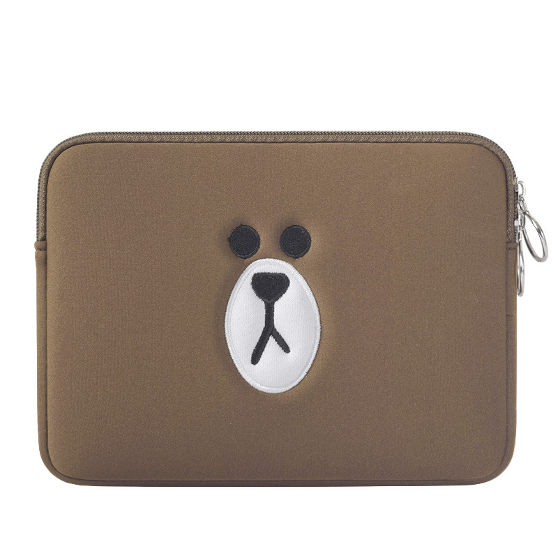 все цены на Cartoon Liner Sleeve Cotton Zipper Laptop Sleeve for Apple IPAD 8 10 Inch Tablet Case Cover For IPAD Pro 9.7 Protective Case