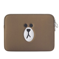 Cartoon Liner Sleeve Cotton Zipper Laptop Sleeve For Apple IPAD 8 10 Inch Tablet Case Cover