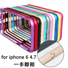 For iphone 6 mobile phone case Bumper Luxury Aluminum Metal Bumper Mobile Phone Protective Cases Covers