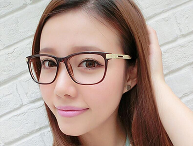 5f46dc9b61 2015 New retro glasses frame Students glasses big box plain mirror  Decorative metal reading glasses men women computer eyewear