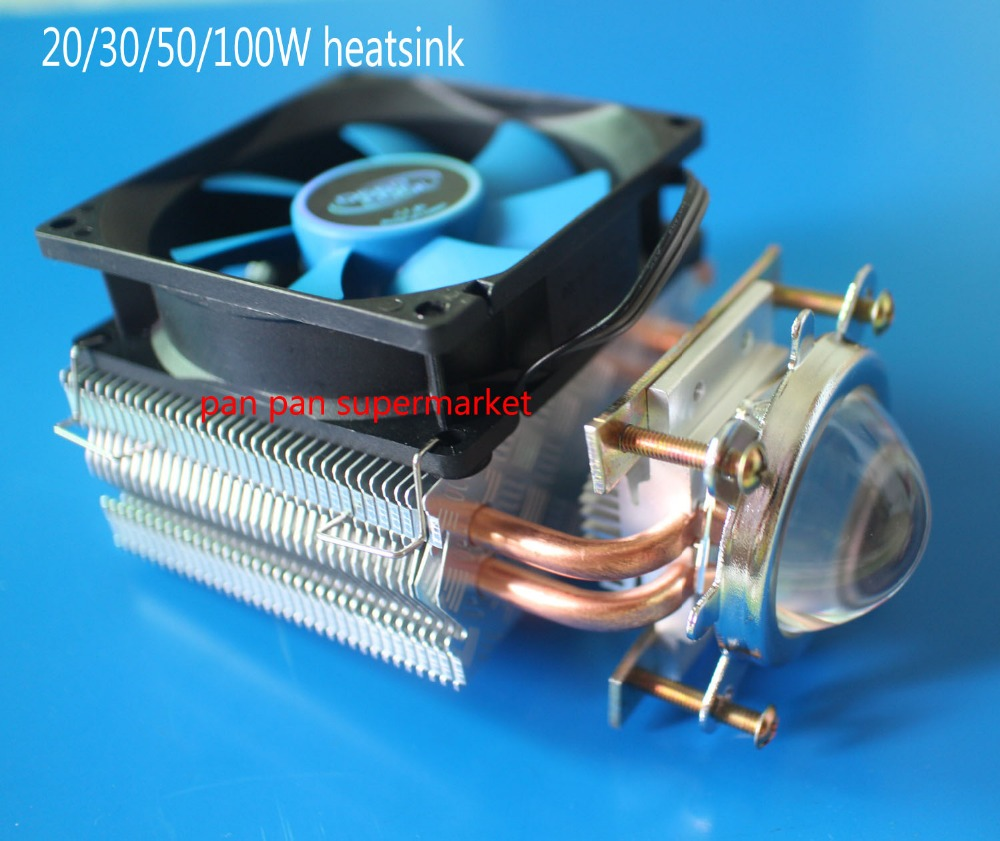 Aluminium Heatsink Fan Tool for 30W 50W 100W High Power LED Bulb Cooling 12V