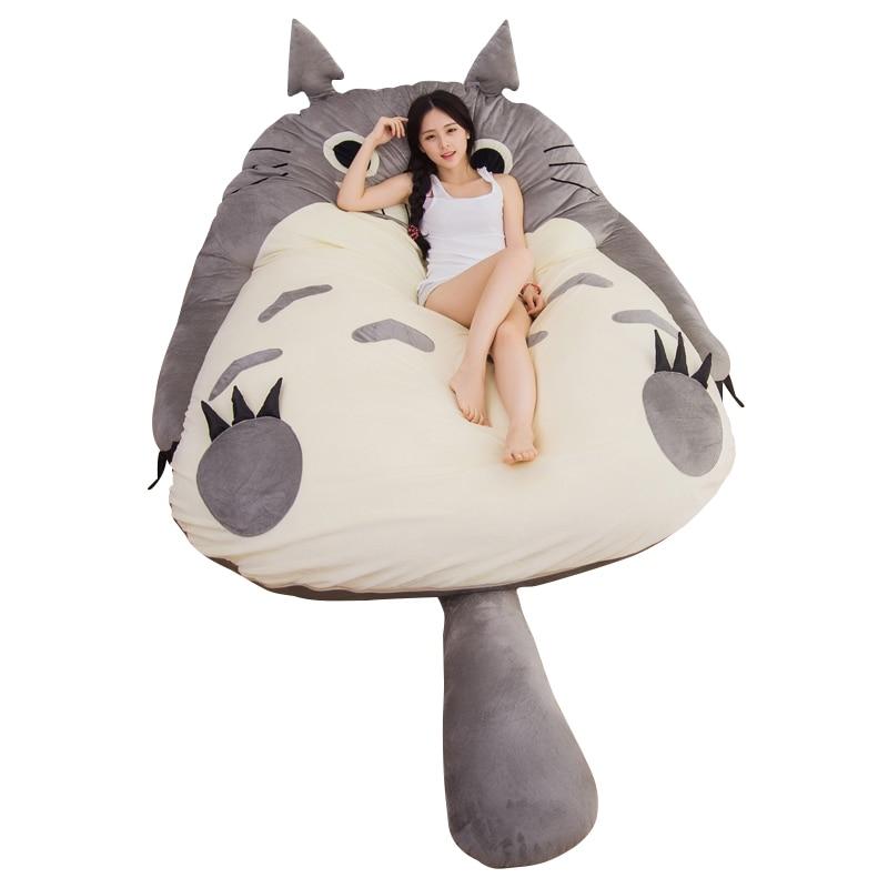Dorimytrader Pop Anime Totoro ถุงนอน Plush ขนาดใหญ่การ์ตูน Tatami Beanbag ที่นอนเด็กและผู้ใหญ่ของขวัญ DY61004-ใน ภาพยนตร์และทีวี จาก ของเล่นและงานอดิเรก บน   2