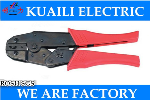 1PCS HS-12 9'' Ratchet Crimping Plier European Style Capacity 6/8/10mm2 10-7AWG For Crimping Aluminum Casing Free shipping xkai 14pcs 6 19mm ratchet spanner combination wrench a set of keys ratchet skate tool ratchet handle chrome vanadium