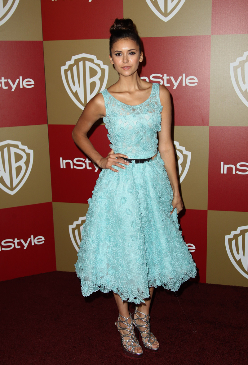 Elegant Nice Nina Dobrev Red Carpet Oscars Celebrity Mid calf Length ...