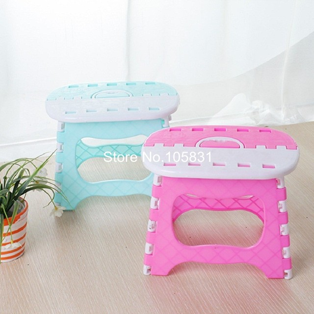 Portable folding stool plastic children chair outdoor creative thickning adult bench high stool