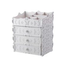 Cosmetic storage box simple European style plastic bedroom dormitory drawer new princess household finishing storage box недорого